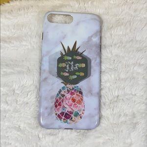 Iphone 8 Plus Marble Case/Cactus Pop socket 😍